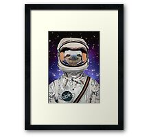 The Sloth Space Programme Framed Print