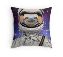 The Sloth Space Programme Throw Pillow