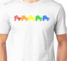 rainbow skates Unisex T-Shirt