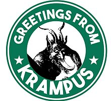 Greetings From Krampus - Coffee Cup Design with the Christmas Devil  by studi03
