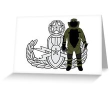 EOD Master Bomb Suit Greeting Card