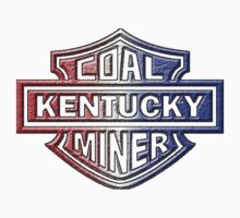 KENTUCKY COAL MINER red white blue by thatstickerguy