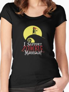 I Support Zombie Marriage! Women's Fitted Scoop T-Shirt