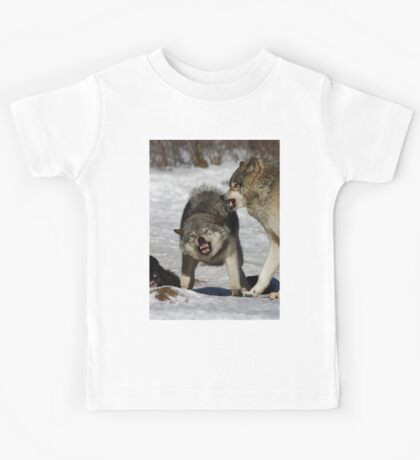 Back off! - Timber Wolf Kids Tee