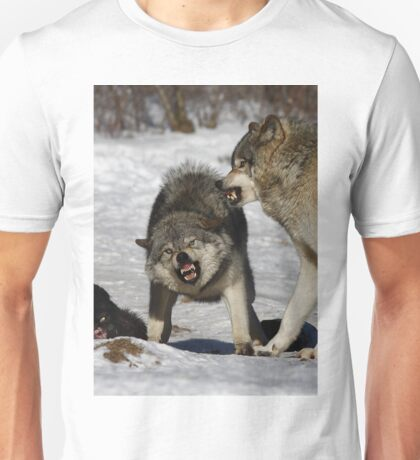 Back off! - Timber Wolf Unisex T-Shirt