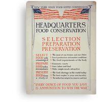 Headquarters food conservation Selection preparation preservation 002 Canvas Print