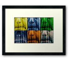 Warhol meets Vasarely II - Pig brother Framed Print