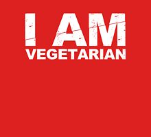 I AM VEGETARIAN Womens Fitted T-Shirt
