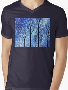 Winter In The Forest Abstract Mens V-Neck T-Shirt