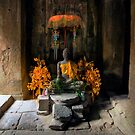Inside Bayon Temple, Cambodia by Michael Treloar