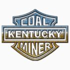 Kentucky Coal MIner chrome style by thatstickerguy