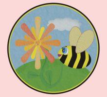 Happy Bee One Piece - Long Sleeve
