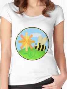 Happy Bee Women's Fitted Scoop T-Shirt