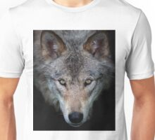 """All the better to see with, my child"" Timber Wolf Unisex T-Shirt"