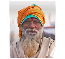 Yellow Turban, Green Knit Poster