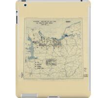 July 26 1944 World War II Twelfth Army Group Situation Map iPad Case/Skin