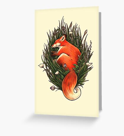 Fox in the Brush Greeting Card