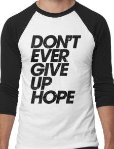 Don't Ever Give Up Hope (black) Men's Baseball ¾ T-Shirt