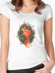 Fox in the Brush Women's Fitted Scoop T-Shirt