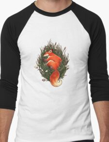Fox in the Brush Men's Baseball ¾ T-Shirt