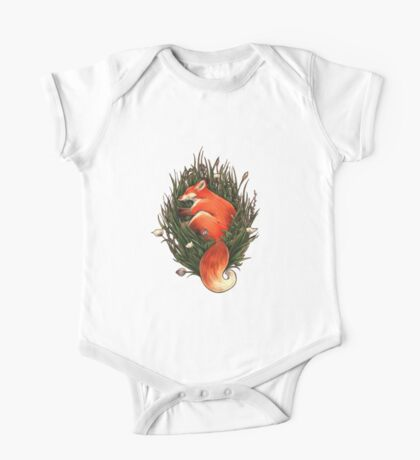 Fox in the Brush One Piece - Short Sleeve