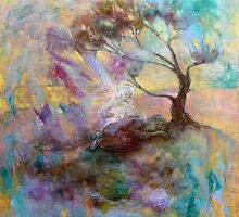 Elijah in the Desert under the Broom Tree by annamora