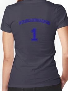 He Was #1 Women's Fitted V-Neck T-Shirt