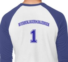 He Was #1 Men's Baseball ¾ T-Shirt