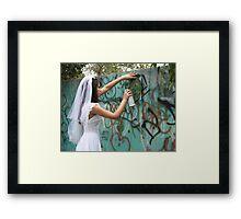 Bride Graffiti Framed Print