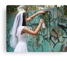 Bride Graffiti Canvas Print