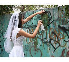 Bride Graffiti Photographic Print