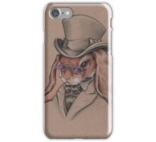 A Sharp Dressed Bunny iPhone Case/Skin
