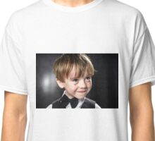 Freckled red-hair boy playing violin. Young musician. Classic T-Shirt