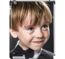 Freckled red-hair boy playing violin. Young musician. iPad Case/Skin