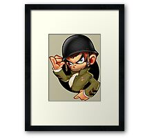 Cool Kid Soldier Design Art Framed Print