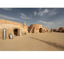Space port in the desert Photographic Print