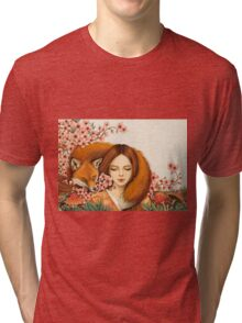 Red Fox Totem. Tri-blend T-Shirt