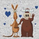Kangaroo & Bull love by Dulcina