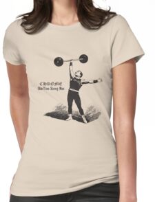 Vintage strongman Womens Fitted T-Shirt