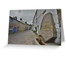 Yorkshire: The Village of Dent Greeting Card