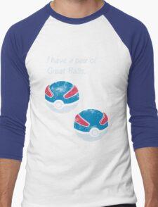 Great Balls Men's Baseball ¾ T-Shirt