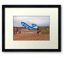 Too Windy, Headin' Home Framed Print