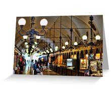 chandeliers in krakow Greeting Card