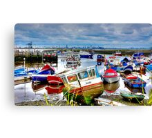 Down With The Boats Canvas Print