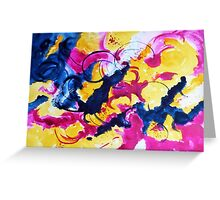 Abstract bloodcurdling Greeting Card