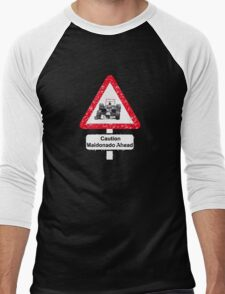 Caution Maldonado Ahead Men's Baseball ¾ T-Shirt