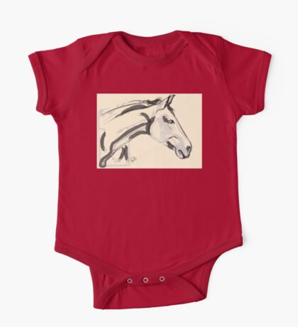 Horse - Lovely One Piece - Short Sleeve