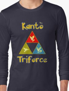Kanto's Legendary Triforce Long Sleeve T-Shirt