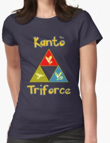 Kanto's Legendary Triforce Womens Fitted T-Shirt
