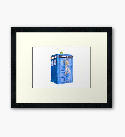 Doc and his Tardis Framed Print